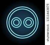 emoji neon icon. simple thin...