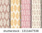 set of four simple patterns.... | Shutterstock .eps vector #1311667538
