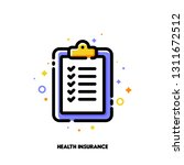 icon of clipboard with... | Shutterstock .eps vector #1311672512