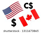 usdcad forex currency pair...   Shutterstock .eps vector #1311673865