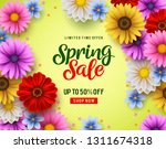 spring sale vector banner with... | Shutterstock .eps vector #1311674318