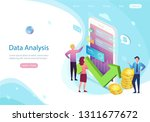 data analysis concept with... | Shutterstock .eps vector #1311677672