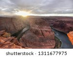 a view of the horseshoe bend at ...   Shutterstock . vector #1311677975