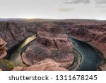 a view of the horseshoe bend at ...   Shutterstock . vector #1311678245