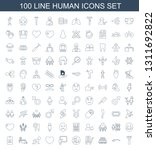 100 human icons. trendy human... | Shutterstock .eps vector #1311692822