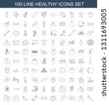 healthy icons. trendy 100... | Shutterstock .eps vector #1311693005