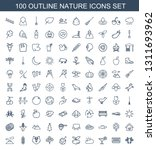 nature icons. trendy 100 nature ... | Shutterstock .eps vector #1311693962
