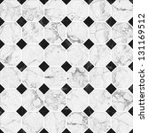 white and black mosaic marble... | Shutterstock . vector #131169512