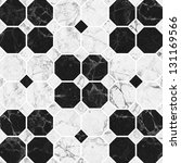 black and white mosaic marble...   Shutterstock . vector #131169566