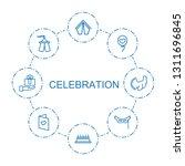 celebration icons. trendy 8... | Shutterstock .eps vector #1311696845