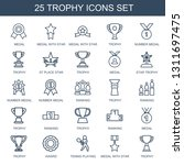 trophy icons. trendy 25 trophy... | Shutterstock .eps vector #1311697475