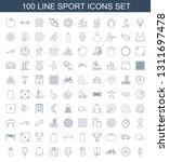 sport icons. trendy 100 sport... | Shutterstock .eps vector #1311697478