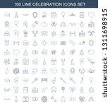 celebration icons. trendy 100... | Shutterstock .eps vector #1311698915