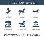 pony icons. trendy 6 pony icons.... | Shutterstock .eps vector #1311699062