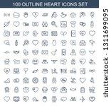 heart icons. trendy 100 heart... | Shutterstock .eps vector #1311699095