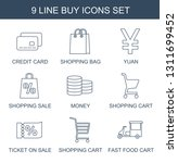 9 buy icons. trendy buy icons... | Shutterstock .eps vector #1311699452