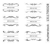 set of vector vintage frames on ... | Shutterstock .eps vector #1311700328