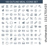 100 meal icons. trendy meal... | Shutterstock .eps vector #1311701435