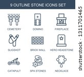 9 stone icons. trendy stone... | Shutterstock .eps vector #1311701465