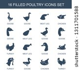 poultry icons. trendy 16... | Shutterstock .eps vector #1311701588