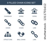 9 chain icons. trendy chain... | Shutterstock .eps vector #1311701612