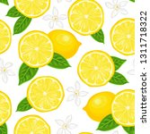 lemons seamless pattern on... | Shutterstock .eps vector #1311718322