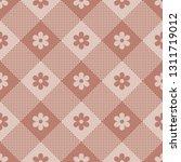 floral buffalo check plaid... | Shutterstock .eps vector #1311719012
