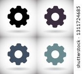 vector icon cogwheel | Shutterstock .eps vector #1311724685