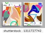 modern abstract covers set.... | Shutterstock .eps vector #1311727742