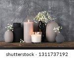 white flowers in neutral...   Shutterstock . vector #1311737192