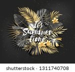 summer tropical leaf background ... | Shutterstock .eps vector #1311740708