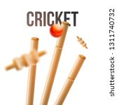 close view of ball hitting...   Shutterstock .eps vector #1311740732
