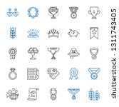 gold icons set. collection of... | Shutterstock .eps vector #1311743405