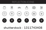 reflection icons set.... | Shutterstock .eps vector #1311743408