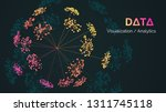 vector abstract big data... | Shutterstock .eps vector #1311745118