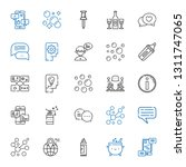 bubble icons set. collection of ... | Shutterstock .eps vector #1311747065