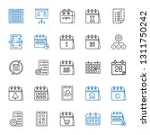 schedule icons set. collection...