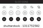 slice icons set. collection of... | Shutterstock .eps vector #1311752582
