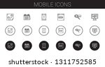 mobile icons set. collection of ...