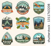 set of summer camp  canoe and... | Shutterstock .eps vector #1311763208