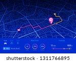 city map navigation dashboard...