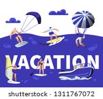 summer vacation water sport... | Shutterstock .eps vector #1311767072