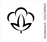 cotton flower icon  cotton ball ... | Shutterstock .eps vector #1311769625