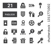 padlock icon set. collection of ... | Shutterstock .eps vector #1311771002