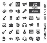 sound icon set. collection of... | Shutterstock .eps vector #1311771185