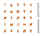 flavor icon set. collection of... | Shutterstock .eps vector #1311771275