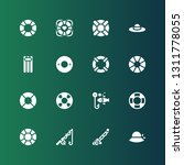 float icon set. collection of... | Shutterstock .eps vector #1311778055