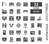 enter icon set. collection of... | Shutterstock .eps vector #1311779828