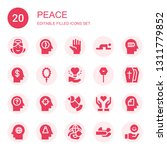 peace icon set. collection of... | Shutterstock .eps vector #1311779852