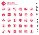 leisure icon set. collection of ... | Shutterstock .eps vector #1311779918